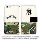 iPhone6s 手帳型 ケース [デザイン:24.NY(白×迷彩)] ニューヨークヤンキース iphoneケース スマホ スマートフォンカバー