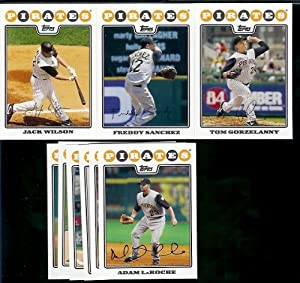Pittsburgh Pirates Baseball Cards - 5 Years Of Topps Team Sets 2004,2005,2006,2007,... by Topps