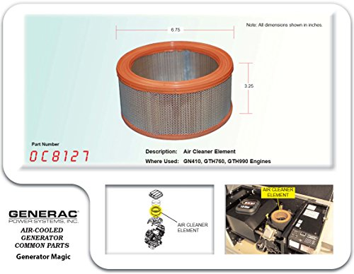 Buy 0D9723 Generac Guardian air filter  Shop every store on