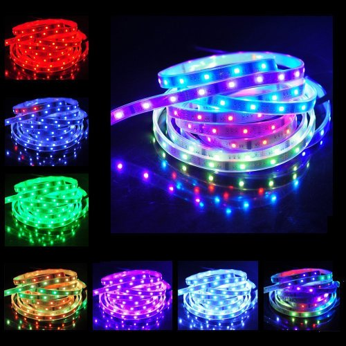 Lemonbest® Roll Of 5M Waterproof Smd 5050 Led Rgb Dream Magic Colorful 6803 Ic Led Strip Light 150 Leds & 133 Changes Rf Rmote Controller Kit + Dc 12V 6A Power Supply
