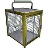 KINGS CAGES ATT 1214 ALUMINUM PARROT Bird Cage pet travel carriers cages toy toys (GOLD)