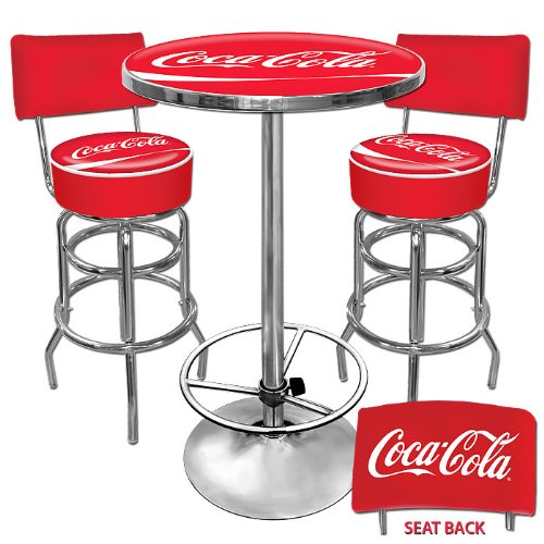 Ultimate Coca-Cola Gameroom Combo - 2 Stools With Backs And Table front-319804