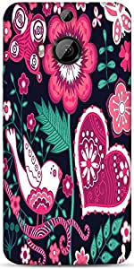 Snoogg Seamless Texture With Flowers Designer Protective Back Case Cover For HTC M9 Plus