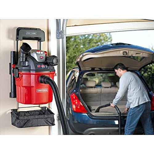 Craftsman Craftsman Remote Control Wall Mount 5 Peak Hp 5 Gal. Wet/Dry Vacuum Shop Vac