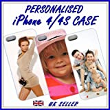DESIGN YOUR OWN iPHONE 4, 4S CASE WHITE / PERSONALISED CUSTOM PRINTED COVER
