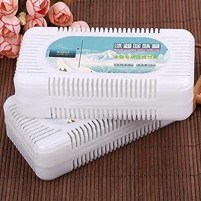 Amasawa Air Purifying Box 80 g (2 pack) Bamboo Charcoal Deodorizer Portable Air Freshener for Fridge,Freezers,Closet,Car,Shoes,kitchens,basements,bedrooms (Purifying box *2)