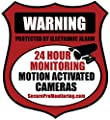 "6 ""REAL"" Red Burglar Alarm Video Surveillance Security Decals Door & Window Stickers"