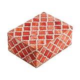 Eccolo Naturals Decorative Box, Small, Moorish Coral