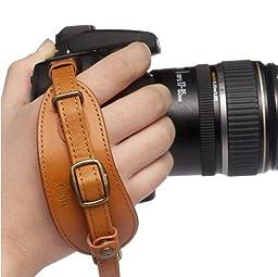 Ciesta CSS-HG01-03 Leather Hand Grip + Plate (Brown) for Digital SLR DSLR Camera