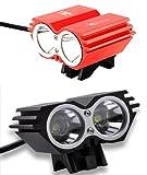 QS High-Tec LED X2 Fahrradlampe CREE XM-L U2 mit 2200lm inkl. 4800mAh Akkupack und Ladegerät Komplett-Set Picture
