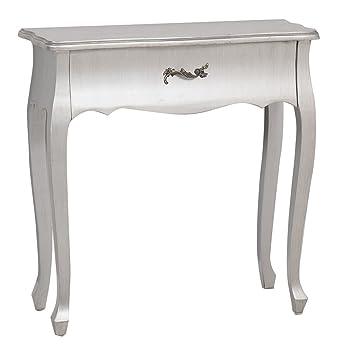 Adda Home Silver comò, legno, Argento, 80x 30x 80.5cm