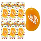 6 x JELLY BELLY 3D BEAN SWEETS SCENT CAR AIR FRESHENER - TANGERINE
