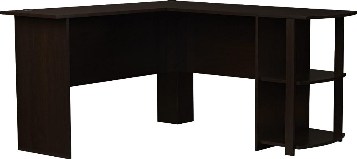 Ameriwood Home Dakota L Shaped Desk With Bookshelves Espresso