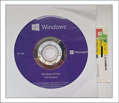 Microsoft Window's 10 Prefessional 64 Bit [import anglais]