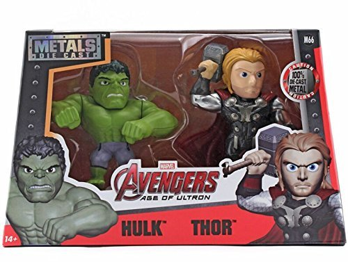 Jada Toys Marvel Metals Hulk & Thor (M66) Twin Pack Toy Figure, 4 by Jada