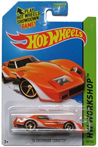 Hot Wheels 2014 Hw Workshop Muscle Mania Orange '76 Greenwood Corvette 237/250