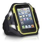 XtremeMac iPhone5S/5C/5/iPod touch(第5世代)対応 夜間のランニングやサイクリングに最適なLEDライト付きスポーツアームバンド スポーツラップシリーズ ブラック IPP-LSWN-13