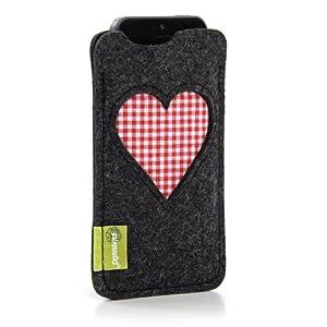"""iPhone 5, iPhone 5S, iPhone 5C Hülle Marke Almwild in Schiefer - Grau - Modell """"Gschbusi"""". Speziell für alle iPhone5 & ipod Touch 5G gefertigt!"""
