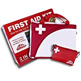 2-in-1 All-Purpose First Aid Kit (115 Pieces) + Bonus Ultralight Wilderness Hiking 1st Aid kit - EMT Approved, Hospital Grade Medical Supplies - Great for hiking, biking, running, hunting and more!