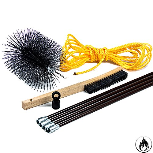 chimney cleaning brush kit 8 inch complete kit from. Black Bedroom Furniture Sets. Home Design Ideas