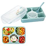 Lunch Bento Box, Iwotou Leakproof Microwave and Dishwasher Safe Lunch Box with 5+1 Separated Containers (Blue)