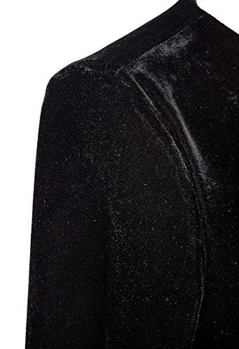 Urban CoCo Women long sleeve V-neck Velvet Stretchy Long Dress (XX-Large, Black)