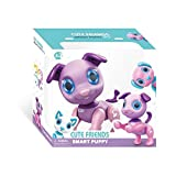 NBD Kids Smart Lovable Puppy, Multi Fuctioning Robot Puppy Friend, White, Blue And Purple, Electronic Dog Puppy