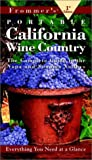 Portable:California & the Wine Country (Frommer's Portable Guides)