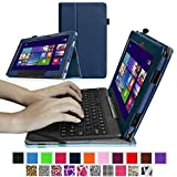 Fintie ASUS Transformer Book 10.1 inch Laptop T100TAM / T100 / T100TA / T100TAF Case - Premium PU Leather Keyboard Stand Cover For ASUS Transformer Book 10.1