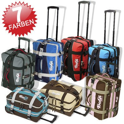 BoGi Bag Travel wheeled holdall luaggage Cabin Case Flight bag suitcase small 40 liters by INSPIRION
