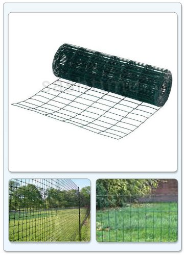 Green Blade BB-CW131 10 x 0.9m PVC Coated Garden Fence - Green