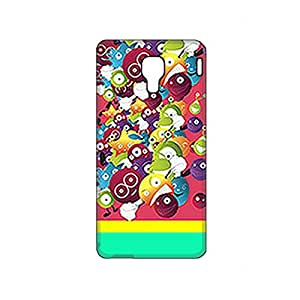 Vibhar printed case back cover for Micromax Canvas Spark Q380 FunnyMonsters
