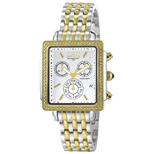 Invicta Women's 5374 Square Angel Diamond Two-Tone Chronograph Watch