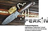 Custom Handmade Damascus Hunting Knife - Beautiful Camping Knife - Full Tang