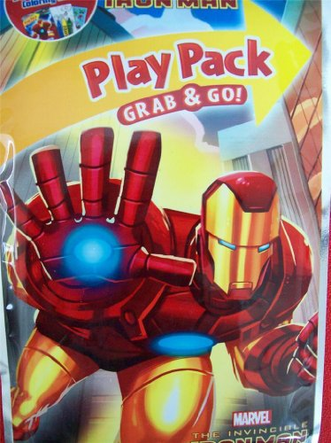 Marvel the Invincible Iron Man Grab & Go Play Pack - 1