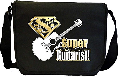 Acoustic Guitar Super Strings - Sheet Music Document Bag Borsa Spartiti MusicaliTee