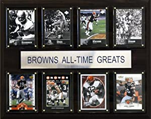 NFL Cleveland Browns All-Time Greats Plaque by C&I Collectables
