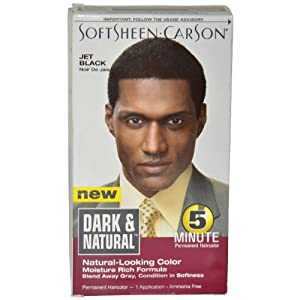Softsheen Carson Dark and Natural Hair Color, Jet Black