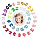 Yinson 40 Packs 2.5 Inch Baby Girls Ribbon Grosgrain Assorted Solid Color Boutique Hair Bows Clips Sets for Infant Toddler Kids TH09 …