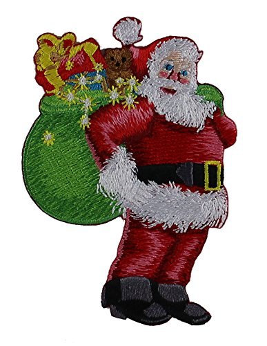 Application Christmas Santa Claus with Gifts Patch