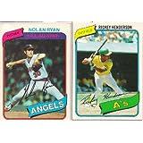 1980 Topps Baseball Complete Set Henderson Rookie