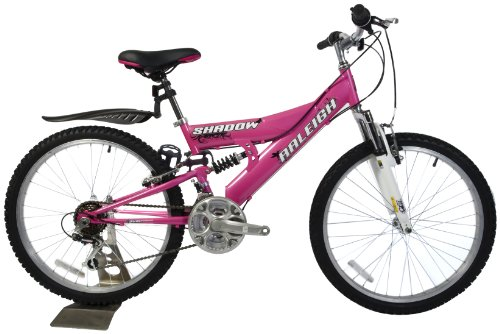 Raleigh Shadow Girls Mountain Bike - Pink/White, 24 Inch