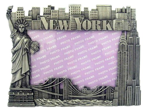 New York Picture Frame - Pewter, New York Picture Frames, Fits 4 X 5 1/2 photo. (New York Picture Frame compare prices)