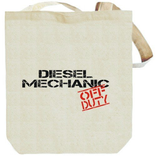 Diesel Mechanic – Off Duty Beige Canvas Tote Bag Unisex