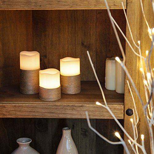 3-LED-Echtwachs-Flacker-Kerzen-mit-Seil-rustikaler-Look-batteriebetrieben-von-Festive-Lights