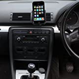 ULTIMATEADDONS Swivel Air Vent Car Kit Mount for Apple iPhone 4 / 4G + Free Car charger with 1.8 metre retractable cable handhelds pdas