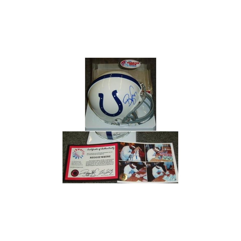 Reggie Wayne Signed Indianapolis Colts Mini Helmet