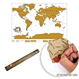 EForWorld Best Gift Scratch Off World Map Poster Personalized Travel Vacation Personal Log