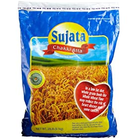 Sujata Chakki Atta, Whole Wheat Flour, 320-Ounce Bag