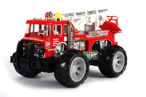 24 Hour Fire Dept. Electric Rc Truck 1:16 Scale Rescue Zero Team Ready To Run Rtr, Monster Truck Styling